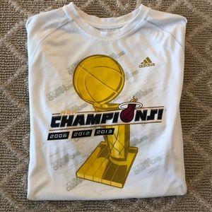 🏀 Adidas NBA 2013 Miami 🔥 Champions Shirt 🏀